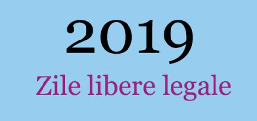 zile libere 2019