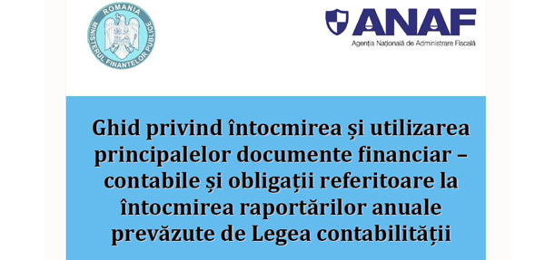 Ghid ANAF documente financiar contabile